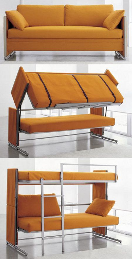 Couch to bunk bed.