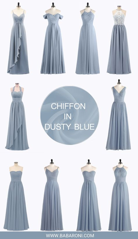 Bridesmaid dresses - Babaroni offers bridesmaid dresses in a variety of colors, so you can choose the color you like Dusty blue is the most popular color in 2018 bridesmaid bridesmaids wedding babaroni cheapdress
