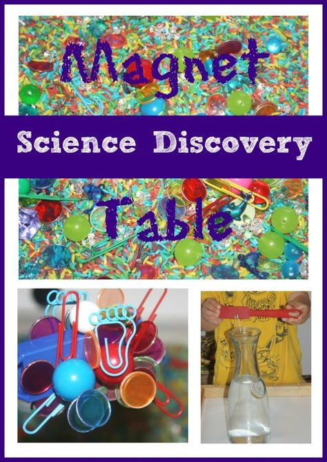 magnet science discovery table