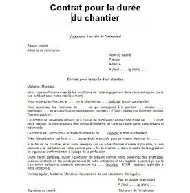 2 Modeles De Contrat De Chantier Doc Cours Genie Civil Outils Livres Exercices Et Videos Genies Personalized Items Person