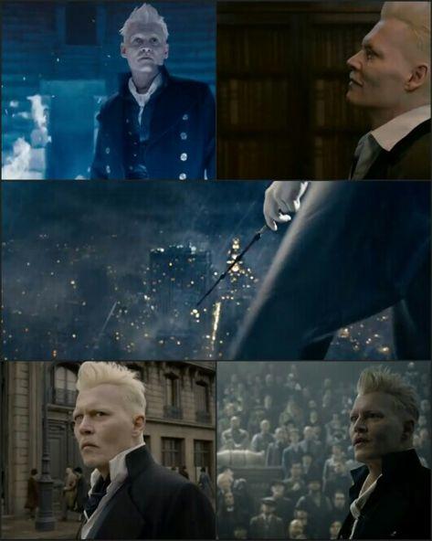 Gellert Grindelwald Fantastic Beasts And The Crimes Of Grindelwald Johnny Depp Fantastic Beasts Fantastic Beasts Grindelwald Harry Potter Fantastic Beasts