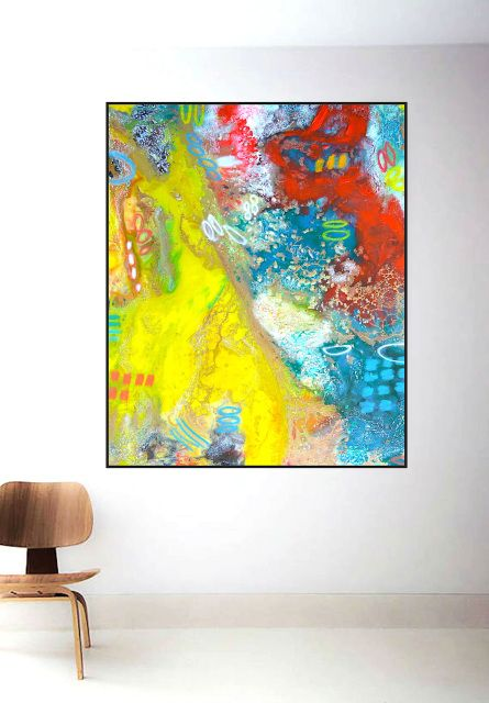 Colorful Abstract Painting Large Canvas Paining Heavy Textured Art Contemporary Artwork Original Ready To Hang One Of A Kind