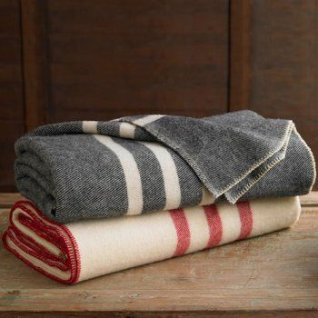 branch striped blankets -- reminds me of my grandma's pendleton blankets.  so snuggly!