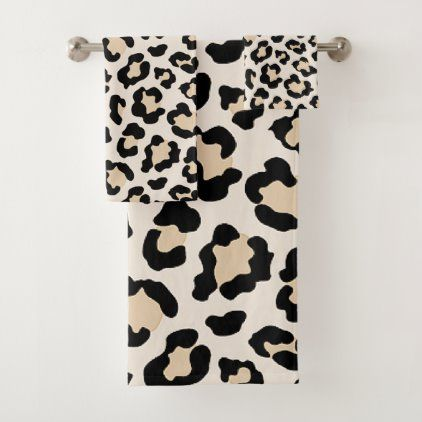 Leopard Print Bath Towel Set Zazzle Com Leopard Print Bedroom Leopard Print Bathroom Leopard Print Decor