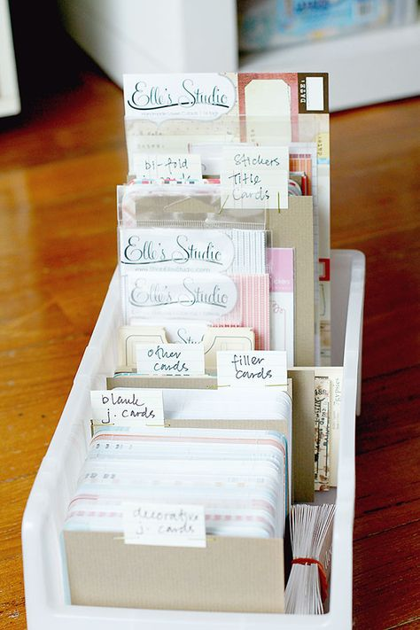 Project Life organizing ideas