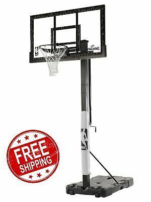 Advertisement Ebay Spalding Nba 60 Acrylic Portable Basketball Hoop Backboard Screw Jack System Portable Basketball Hoop Ebay Spalding