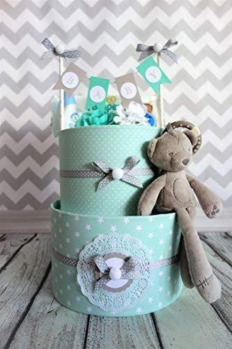 Windeltorte Neutral Geschenk zur Geburt Taufe Babyparty