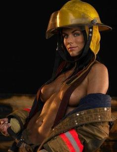 Fire fighter lady sexy