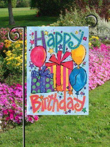 32 Garden Flags Ideas, Birthday Garden Flags