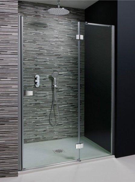 Simpsons Design Semi Frameless Hinged Shower Door With Inline