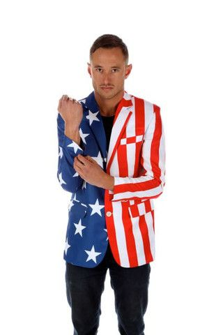 The Tommy J American Flag Blazer American Flag Suit Party Suit For Man Men Shirt Style