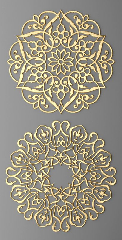 Rosette Round Molding set Model available on Turbo Squid, the world's leading provider of digital models for visualization, films, television, and games. Stencil Patterns, Pattern Art, Motifs Islamiques, Motif Art Deco, Islamic Art Pattern, Arabic Pattern, Wood Carving Designs, 3d Max, Calligraphy Art