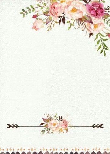 4 Fondos De Flores Para Invitaciones De Fiestas Tarjetas