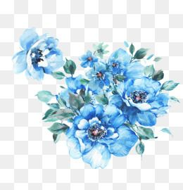 Blue Flower Png Images Vector And Psd Files Free Download On Pngtree Flower Clipart Blue Flowers Flower Decorations