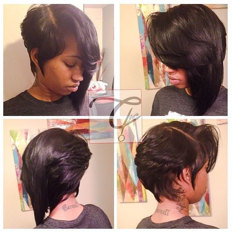 Fierce Angled Bob - http://community.blackhairinformation.com/hairstyle-gallery/relaxed-hairstyles/fierce-angled-bob/ #bob #angledbob #haircut #shorthair
