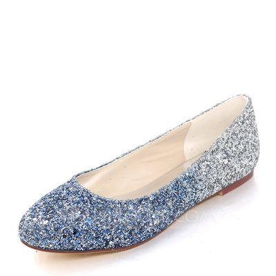 Sparkling Glitter Flat Heel Flats