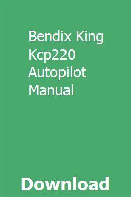 Bendix King User Manual