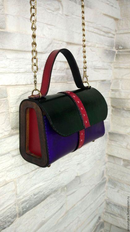 aa576d55e96a Женские сумки ручной работы. Ярмарка Мастеров - ручная работа. Купить Сумка  из кожи и дерева
