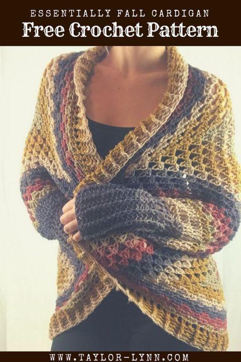 Essentially Fall Crochet Cardigan Pattern Crochet Cardigan