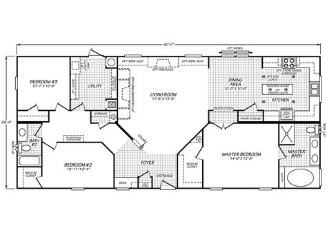 Eagle Trace Ii 28603n Floor Plans Mobile Home Floor Plans House Floor Plans