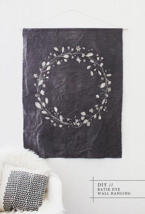 batik dye wall hanging_diy