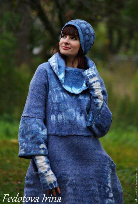 Верхняя одежда ручной работы. Ярмарка Мастеров - ручная работа. Купить  Платье-свитер(пальто-балахон) 32608ed31d8