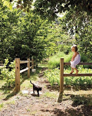 Garten mit kind und katze :-)
