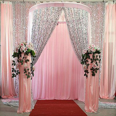 Sequin Curtains 2 Panels 2FTx8FT Glitter Backdrop Sequin Photo Backdrop Wedding