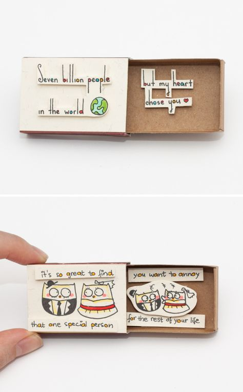 Culture N Lifestyle | CNL — Quirky & Cute Matchbox-Cards Help You Profess Your...