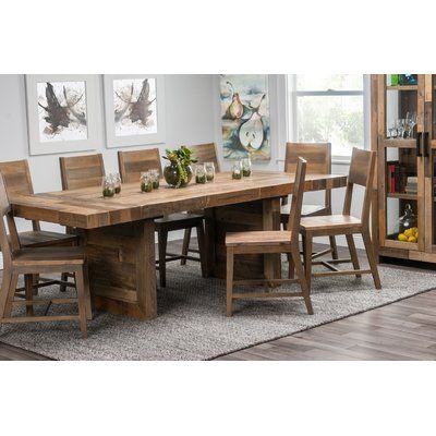 Mistana Abbey Extendable Solid Wood Dining Table Birch