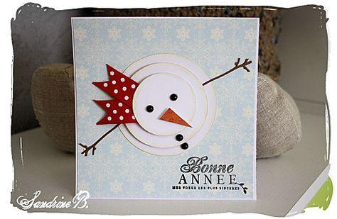 carte Bonhomme de neige