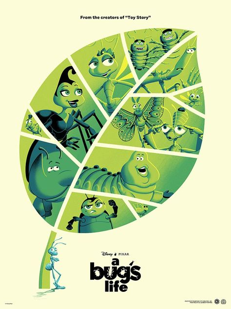 Limited A Bug's Life Poster Screen Printed by Artist Phantom City Creative