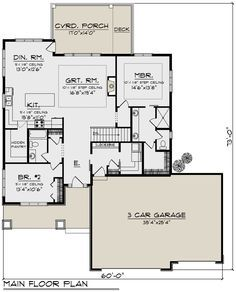 House Plan 1020 00326 Craftsman Plan 1 736 Square Feet 2 Bedrooms 2 Bathrooms In 2021 Bungalow Floor Plans Bathroom Floor Plans Floor Plans