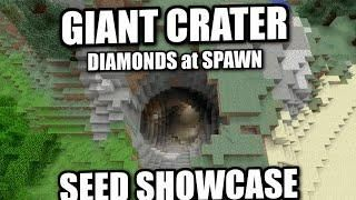 Minecraft Giant Crater Scary Diamonds Seed Showcase Xbox Mcpe Ps4 Ps3 Switch Minecraft Redstone Minecraft Minecraft Pe Seeds