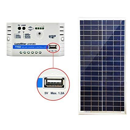 Acopower 35 Watt Panel Build Your Solar Charger In One Stop 10a 35w Kit Pwm10a More Product Details Https Solar Panels Solar Panel Kits Solar Charger