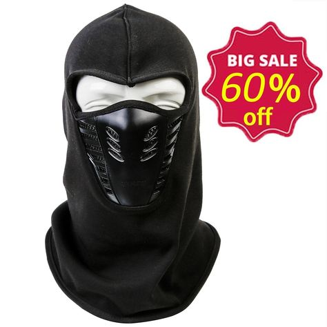 d9d17301780 Balaclava Winter Ski Mask - Cold Weather Face Mask Windproof Warm for  Skiing   Snowboarding   Cycling - Black - C4184YKU930 - Hats   Caps