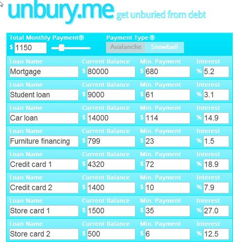 debt repayment 1 snowball debt free Pinterest Debt repayment - debt payoff calculator