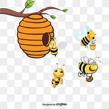 Mining Honey Bees Honey Bee Cartoon Png Transparent Clipart Image And Psd File For Free Download Colmenas De Abejas Abejas Panal De Miel