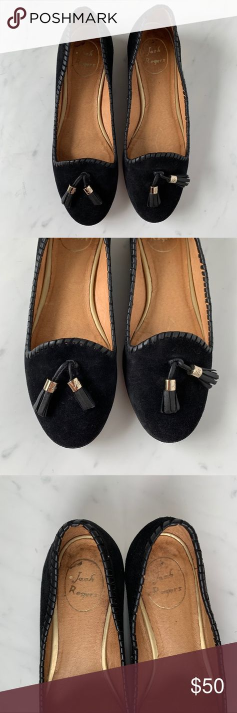 Jack Rogers Gabrielle Suede Loafers Jack Rogers Gabrielle Suede Tassel Loafers  Condition: Pre-owned. Box is damaged. Shoes shoe wear throughout. Distress on suede, marking on inside, bottoms show wear.  Size: 8.5 Style: 1615FF0003 Color: Black  No Trades | No Holds Jack Rogers Shoes Flats & Loafers