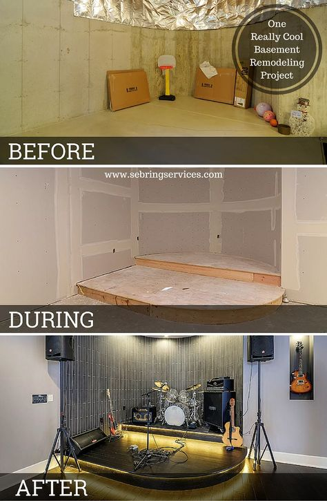 before after one really cool basement remodeling project rh pinterest com