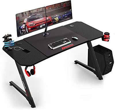 Vit 55 Inch Ergonomic Gaming Desk In 2021 Gaming Desk Desk Home And Garden Store