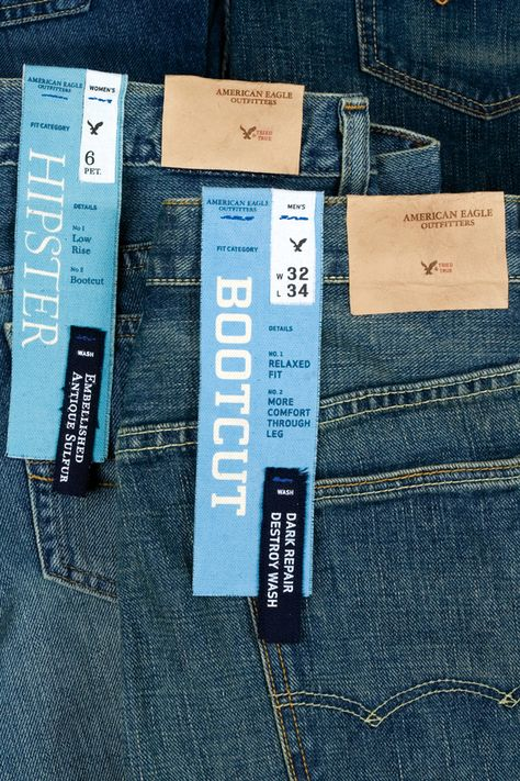 American Eagle Outfitters Denim Packaging by Adam Flanagan, via Behance