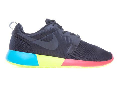 nike roshe run sneakerboot bordeaux/blå