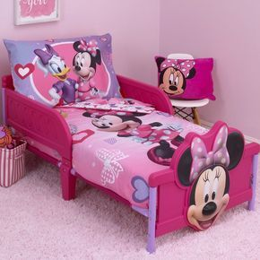 Minnie Mouse Hearts And Bows 4 Piece Toddler Bedding Set Decorar