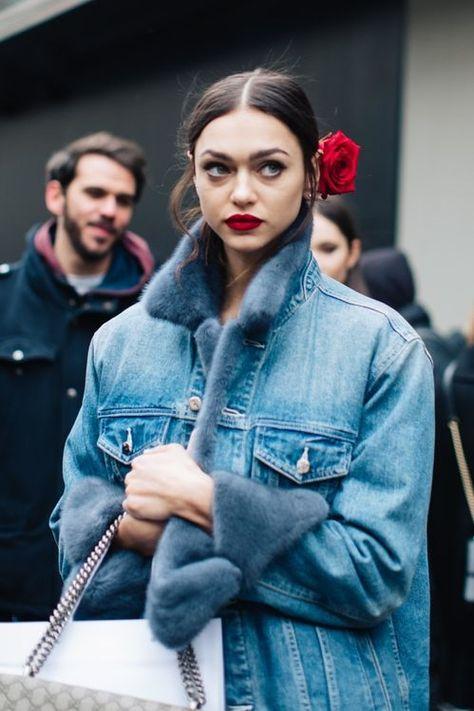 Denim with faux fur luxe details