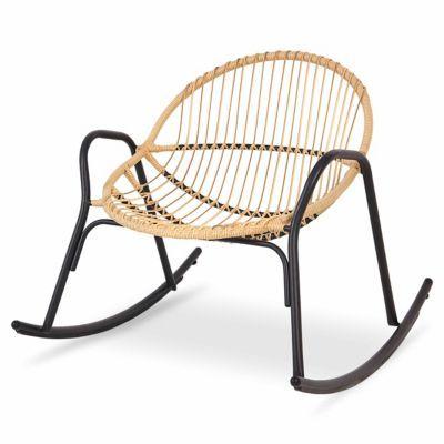 Fauteuil De Jardin Rocking Chair Cuba En 2020 Fauteuil A Bascule En Rotin Chaise A Bascule Fauteuil Jardin