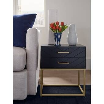 Ludie Block End Table With Storage Bedroom Night Stands Bedside Table Decor Modern Bedside Table