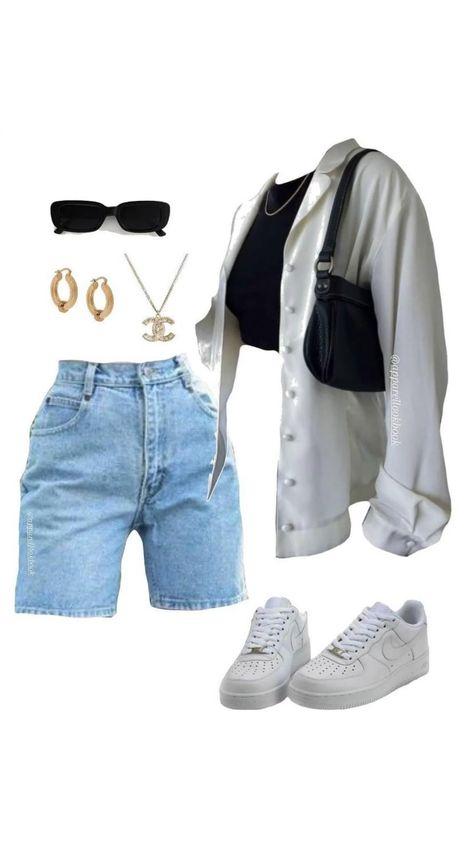 Baddie Outfits Casual, Kpop Fashion Outfits, Tomboy Fashion, Retro Outfits, Mode Outfits, Girls Fashion Clothes, Cute Casual Outfits, Look Fashion, Streetwear Fashion