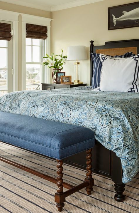 layered blues in bedroom
