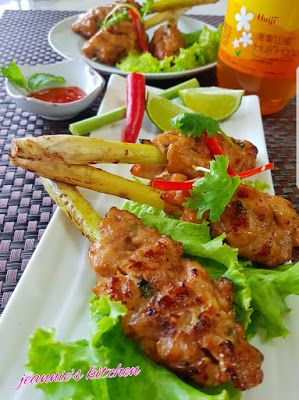 Singapore Home Cooks Airfried Thai Style Honey Lemongrass Chicken Stick Lemongrass Recipes Lemon Grass Chicken Chicken On A Stick